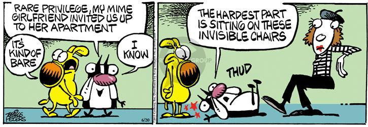 Cartoonist Mike Peters  Mother Goose and Grimm 2013-06-20 bare