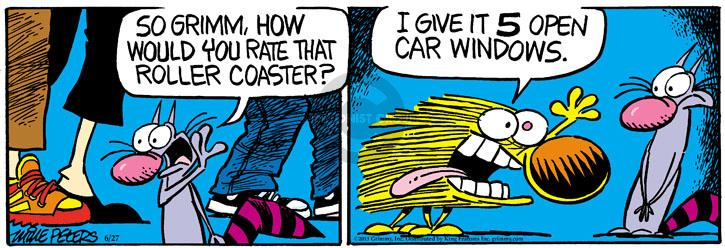 Cartoonist Mike Peters  Mother Goose and Grimm 2013-06-27 windy