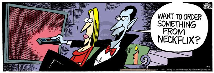 Cartoonist Mike Peters  Mother Goose and Grimm 2013-07-02 vampire