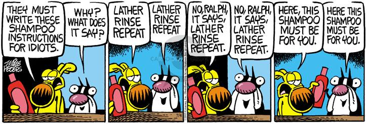 Comic Strip Mike Peters  Mother Goose and Grimm 2013-07-04 instruction