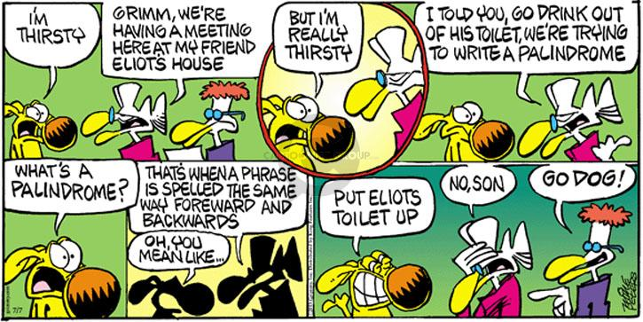 Comic Strip Mike Peters  Mother Goose and Grimm 2013-07-07 response