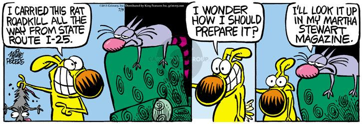 Comic Strip Mike Peters  Mother Goose and Grimm 2013-07-09 prepare