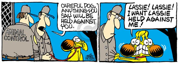 Comic Strip Mike Peters  Mother Goose and Grimm 2013-07-13 arrest