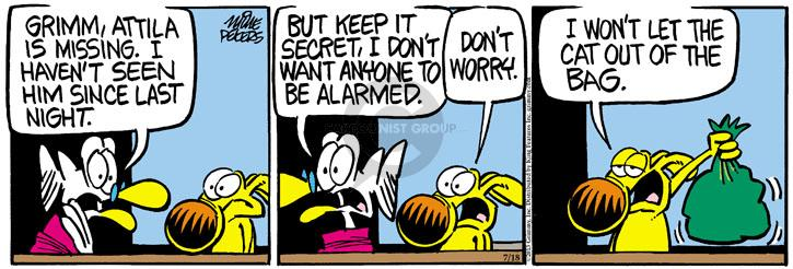 Comic Strip Mike Peters  Mother Goose and Grimm 2013-07-18 cat dog