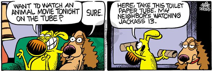 Cartoonist Mike Peters  Mother Goose and Grimm 2013-07-19 neighbor