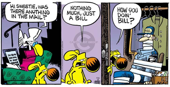 Cartoonist Mike Peters  Mother Goose and Grimm 2013-07-21 carrier