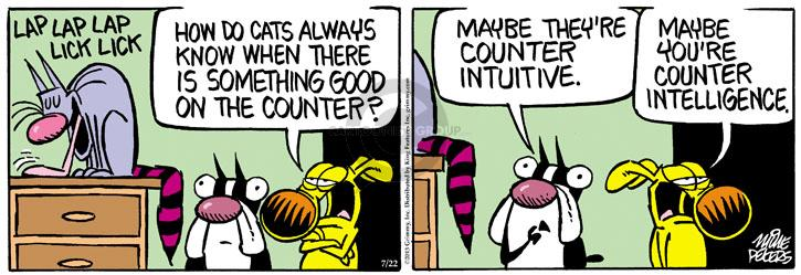 Comic Strip Mike Peters  Mother Goose and Grimm 2013-07-22 lick