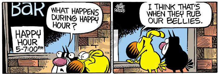 Comic Strip Mike Peters  Mother Goose and Grimm 2013-07-26 happy dog