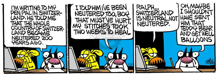 Comic Strip Mike Peters  Mother Goose and Grimm 2013-07-27 hurt