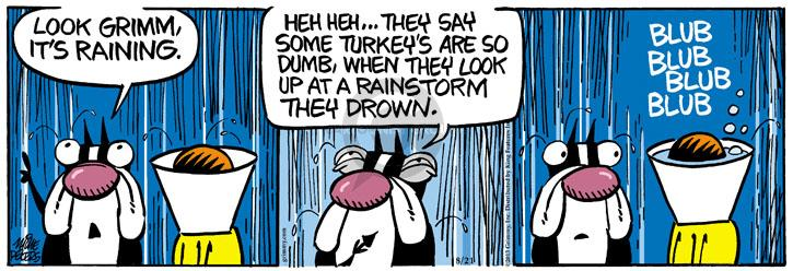 Comic Strip Mike Peters  Mother Goose and Grimm 2013-08-21 heh