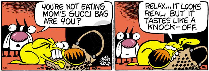 Comic Strip Mike Peters  Mother Goose and Grimm 2013-08-15 purse