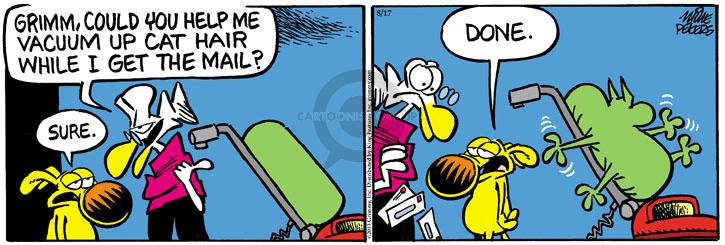 Comic Strip Mike Peters  Mother Goose and Grimm 2013-08-17 cat hair