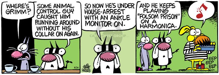 Comic Strip Mike Peters  Mother Goose and Grimm 2013-08-26 house arrest