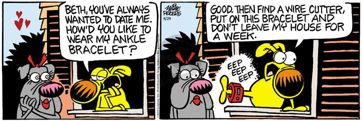 Comic Strip Mike Peters  Mother Goose and Grimm 2013-08-29 arrest