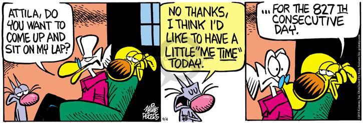 Comic Strip Mike Peters  Mother Goose and Grimm 2013-09-04 lap