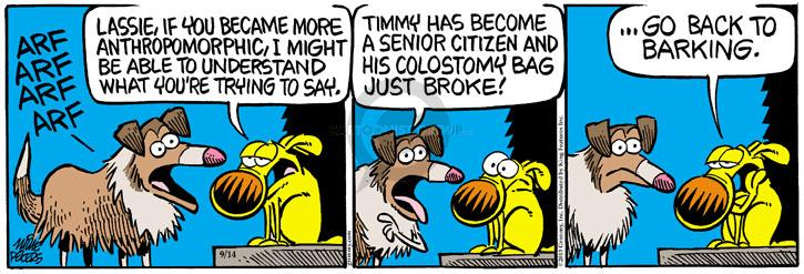 Comic Strip Mike Peters  Mother Goose and Grimm 2013-09-14 arf