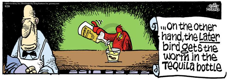 Comic Strip Mike Peters  Mother Goose and Grimm 2013-09-28 late