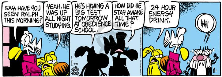 Comic Strip Mike Peters  Mother Goose and Grimm 2013-09-30 awake