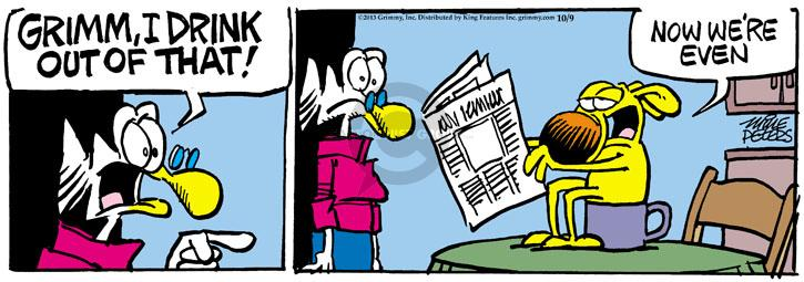 Comic Strip Mike Peters  Mother Goose and Grimm 2013-10-09 coffee