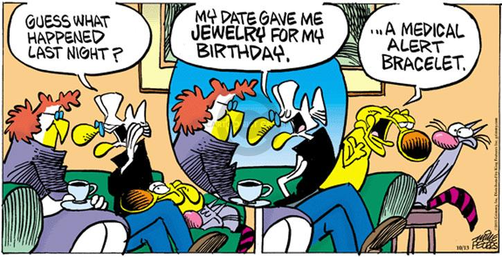 Comic Strip Mike Peters  Mother Goose and Grimm 2013-10-13 birthday