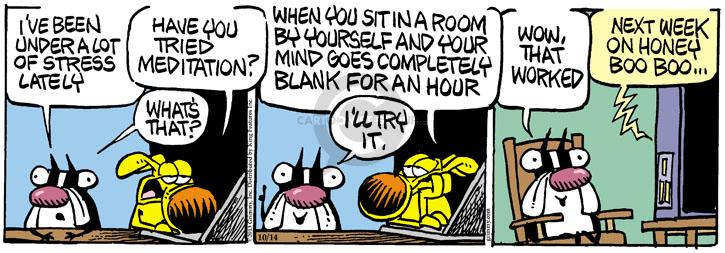 Cartoonist Mike Peters  Mother Goose and Grimm 2013-10-14 week