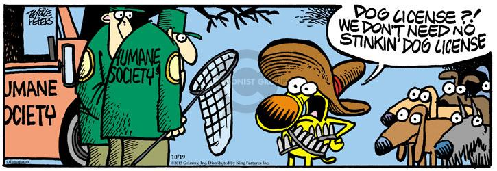 Comic Strip Mike Peters  Mother Goose and Grimm 2013-10-19 stray dog