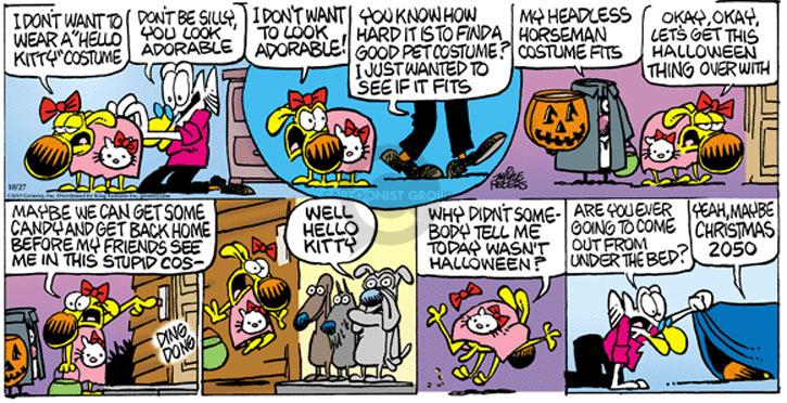 Comic Strip Mike Peters  Mother Goose and Grimm 2013-10-27 Halloween costume