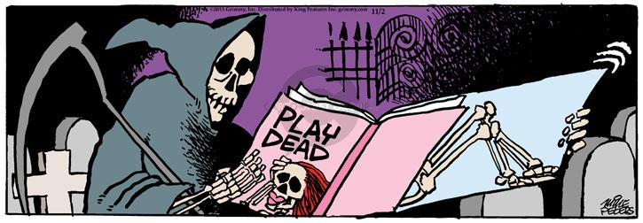 Cartoonist Mike Peters  Mother Goose and Grimm 2013-11-02 grim reaper