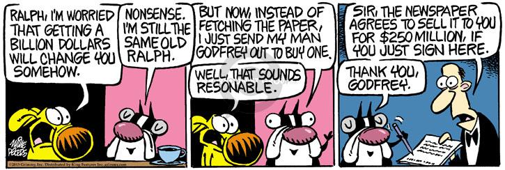 Comic Strip Mike Peters  Mother Goose and Grimm 2013-11-06 reasonable