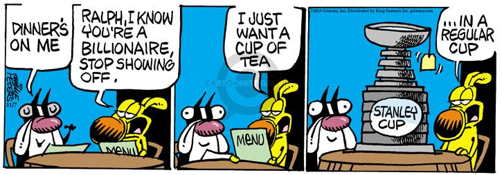 Comic Strip Mike Peters  Mother Goose and Grimm 2013-11-07 tea