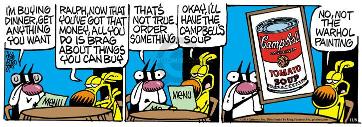Cartoonist Mike Peters  Mother Goose and Grimm 2013-11-08 pay