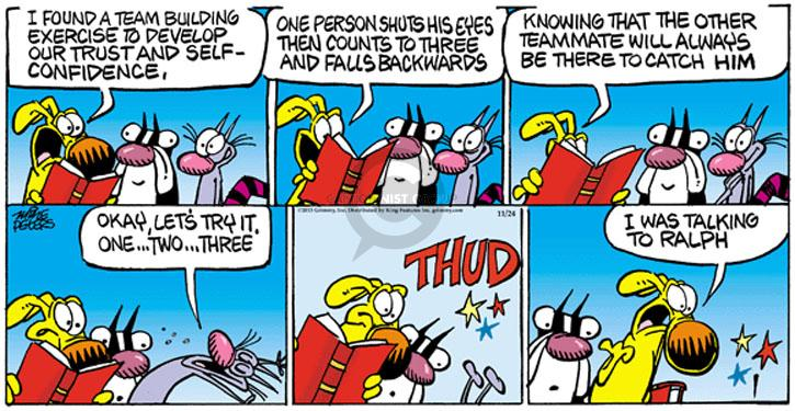 Cartoonist Mike Peters  Mother Goose and Grimm 2013-11-24 exercise