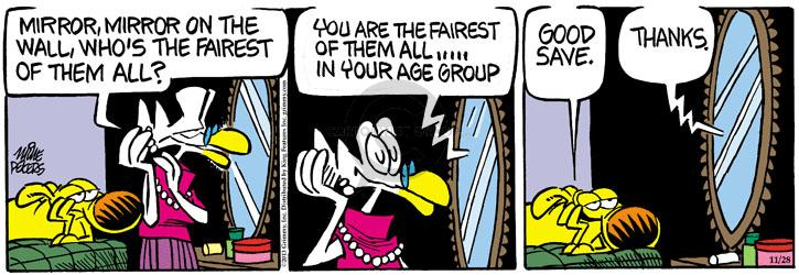 Cartoonist Mike Peters  Mother Goose and Grimm 2013-11-28 aging