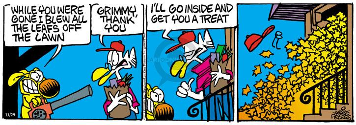 Cartoonist Mike Peters  Mother Goose and Grimm 2013-11-29 yard