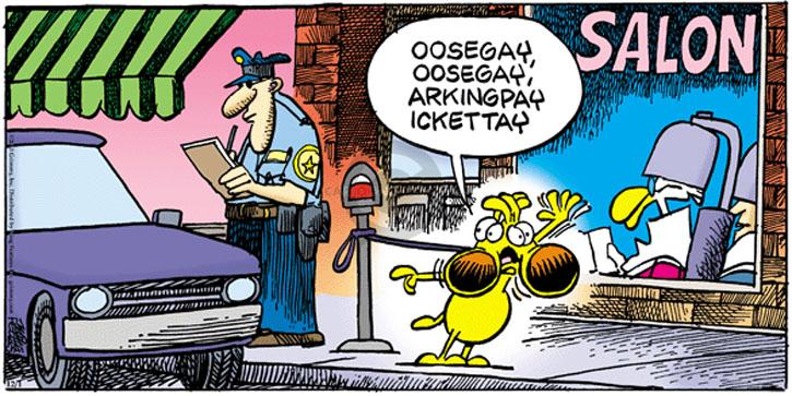Cartoonist Mike Peters  Mother Goose and Grimm 2013-12-01 violation