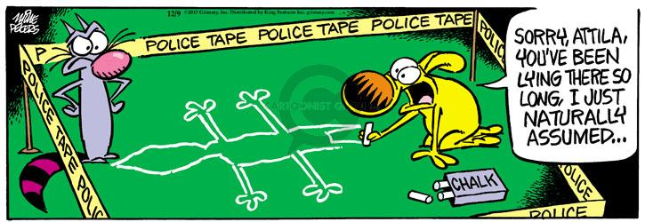 Comic Strip Mike Peters  Mother Goose and Grimm 2013-12-09 lie