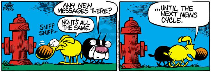 Comic Strip Mike Peters  Mother Goose and Grimm 2013-12-10 urine