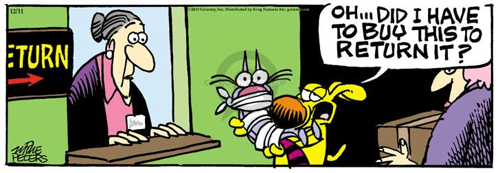 Cartoonist Mike Peters  Mother Goose and Grimm 2013-12-11 customer