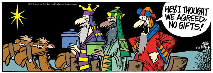 Comic Strip Mike Peters  Mother Goose and Grimm 2013-12-14 birth