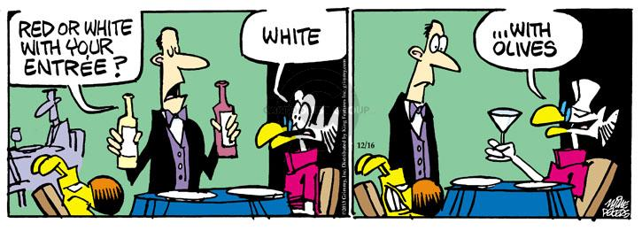 Cartoonist Mike Peters  Mother Goose and Grimm 2013-12-16 white
