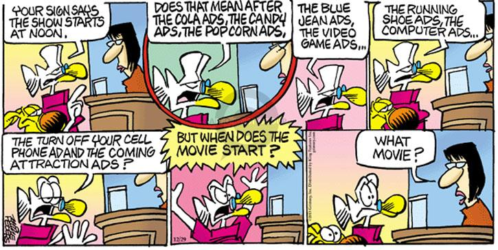Comic Strip Mike Peters  Mother Goose and Grimm 2013-12-29 theater