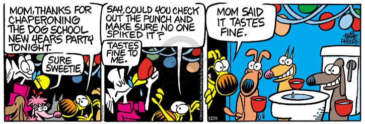 Comic Strip Mike Peters  Mother Goose and Grimm 2013-12-31 drink alcohol