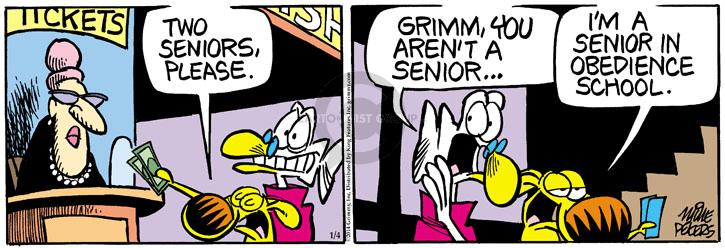 Comic Strip Mike Peters  Mother Goose and Grimm 2014-01-04 theater