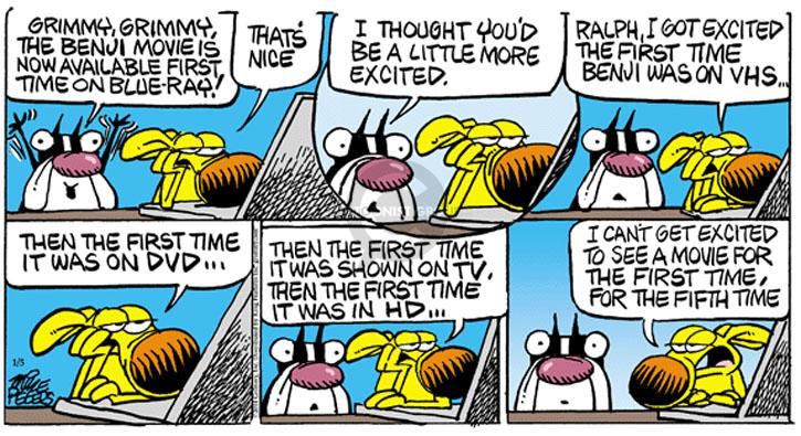 Comic Strip Mike Peters  Mother Goose and Grimm 2014-01-05 entertainment