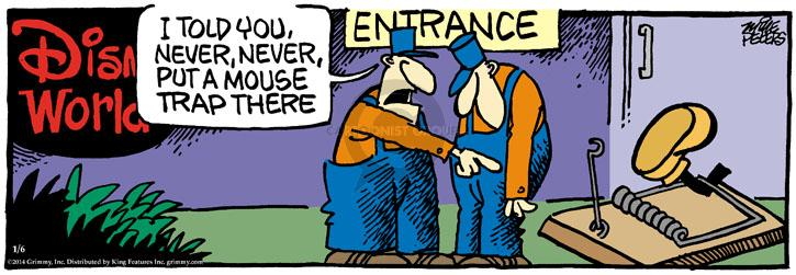 Comic Strip Mike Peters  Mother Goose and Grimm 2014-01-06 entrance
