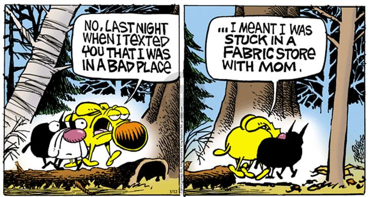 Comic Strip Mike Peters  Mother Goose and Grimm 2014-01-12 friendship