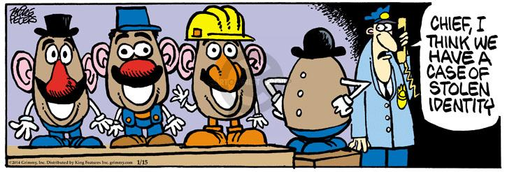 Cartoonist Mike Peters  Mother Goose and Grimm 2014-01-15 line-up