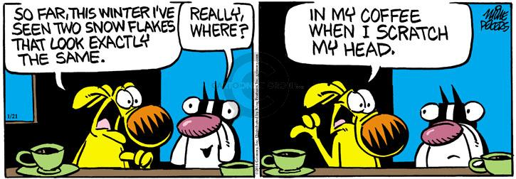 Comic Strip Mike Peters  Mother Goose and Grimm 2014-01-21 coffee