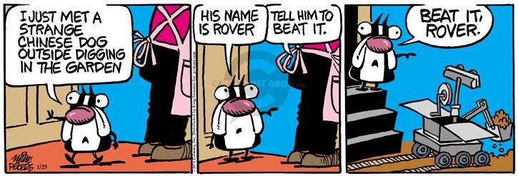 Cartoonist Mike Peters  Mother Goose and Grimm 2014-01-25 dig