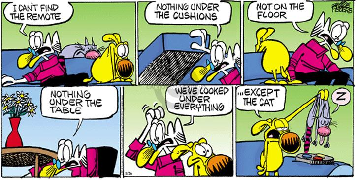 Comic Strip Mike Peters  Mother Goose and Grimm 2014-01-26 lose